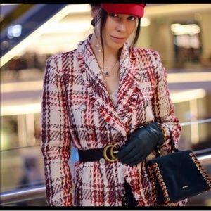 Zara Tweed Blazer Gem Jewel Button Jacket 2135/614